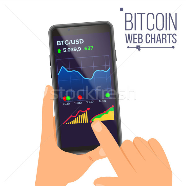 Bitcoin web graphiques vecteur main Photo stock © pikepicture