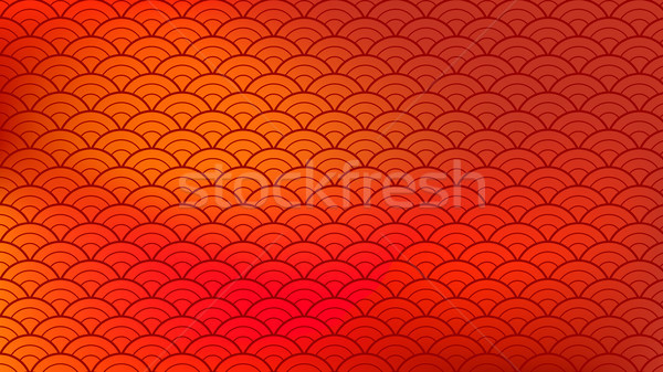 Chinese Ornament Vector. Abstract Chinese Red Golden Clouds. Illustration Stock photo © pikepicture