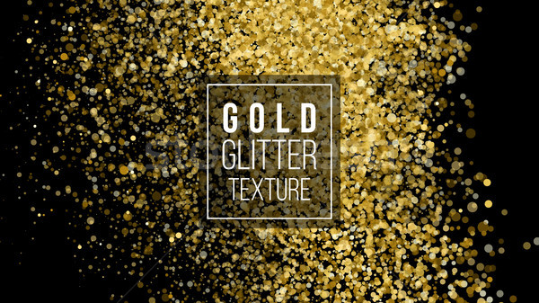 Gold Glitter Background. Cloud Or Shining Particles Explosion Texture. Luxury Golden Sparkles Effect Stock photo © pikepicture