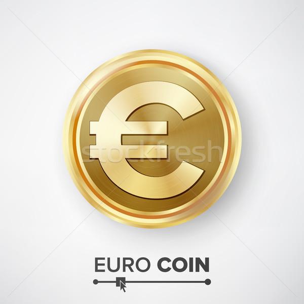 ユーロ 金貨 ベクトル 現実的な お金 にログイン ストックフォト © pikepicture