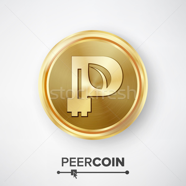 Peercoin Gold Coin Vector Stock photo © pikepicture