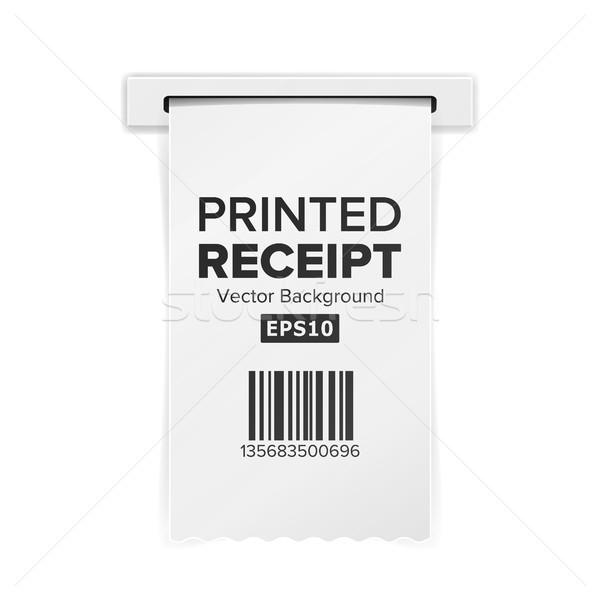 Wydrukowane paragon wektora sprzedaży zakupy realistyczny Zdjęcia stock © pikepicture