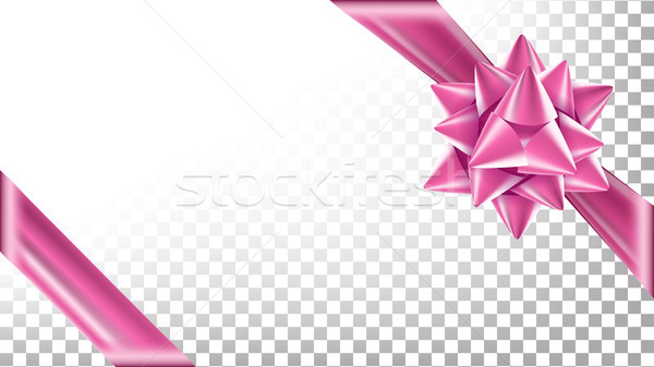 Christmas Or Gift Red Ribbon With Bow Vector. Gift Wrapping Template For Banner Holiday. Transparent Stock photo © pikepicture