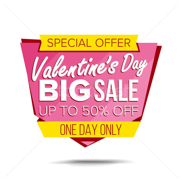 Valentine s Day Sale Banner Vector. Website Sticker, Love Web Page Design. February 14 Product Disco Stock photo © pikepicture