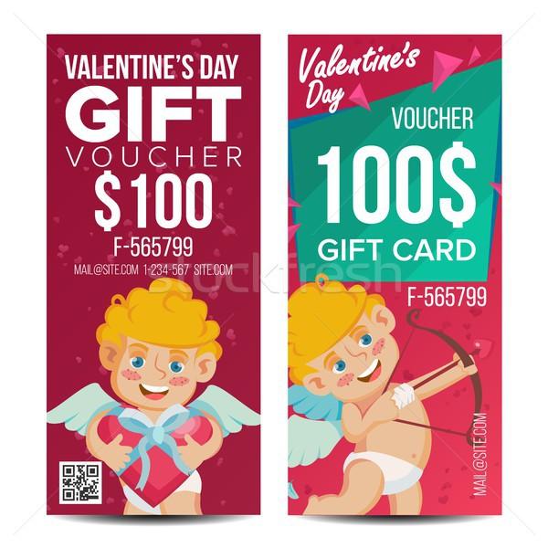 San Valentín día vale plantilla vector vertical Foto stock © pikepicture