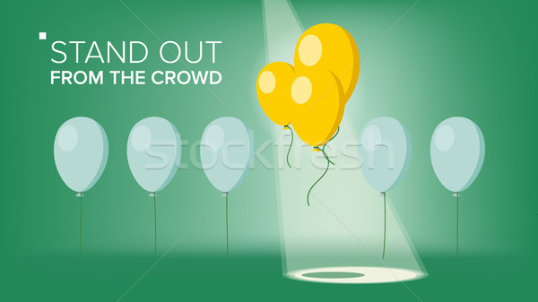 Stand Out From The Crowd Vector. Outstanding Balloon Different From Other. Business Success. Good Id Stock photo © pikepicture