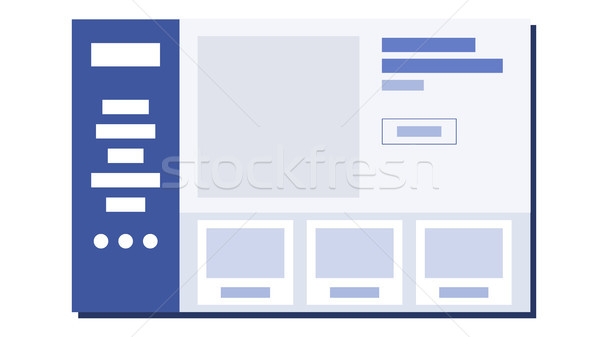 Website Flat Design Vector. Wireframes Layout. Web Design Concept. Illustration Stock photo © pikepicture
