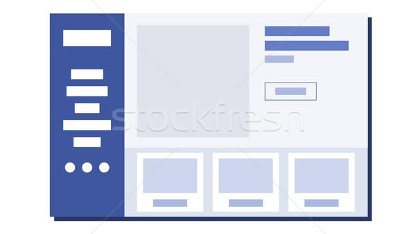 Site projeto vetor traçado web design ilustração Foto stock © pikepicture