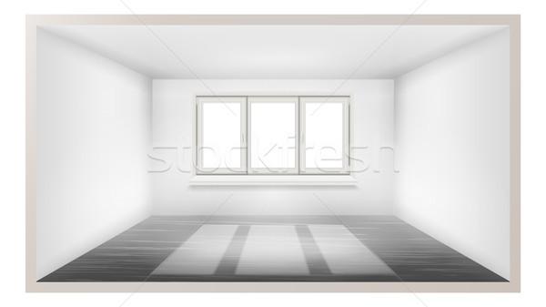 пустой комнате вектора пусто стены солнечный свет падение Сток-фото © pikepicture