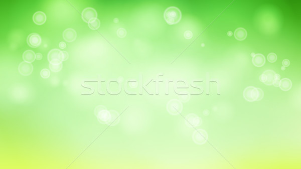 Blur Abstract Image With Shining Lights Vector. Green Bokeh Background Stock photo © pikepicture
