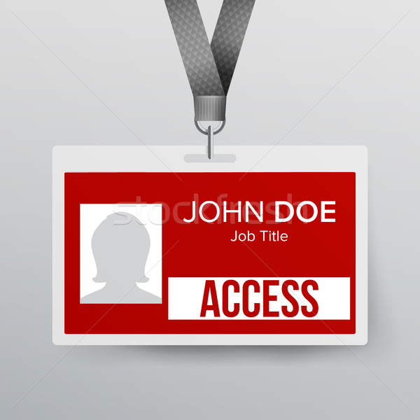 Lanyard Badge Vector. Identity Card For Security To Business Conference Realistic Illustration. Stock photo © pikepicture