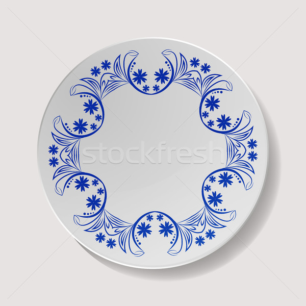 Realistisch plaat vector porselein tafelgerei Stockfoto © pikepicture