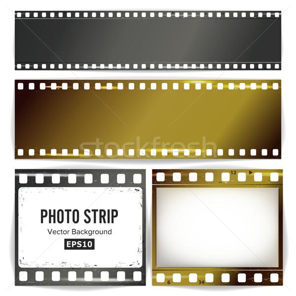 Stock fotó: Fotó · vektor · valósághű · üres · keret · grunge