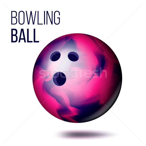 Bowling ball odizolowany wektora realistyczny ilustracja sportu Zdjęcia stock © pikepicture