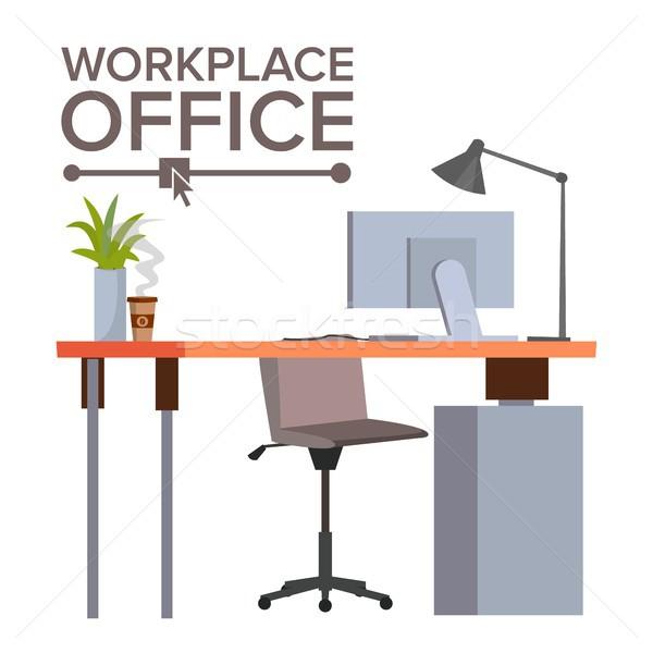 Iroda munkahely vektor irodai asztal modern fejlesztő Stock fotó © pikepicture