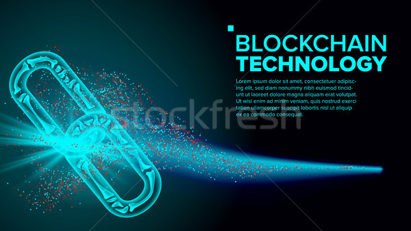 Blockchain Vector. Link Web Chain Internet. Development Software Platform. Illustration Stock photo © pikepicture