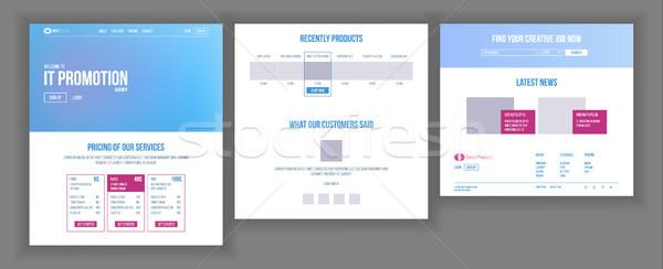 сайт шаблон вектора страница бизнеса проект Сток-фото © pikepicture