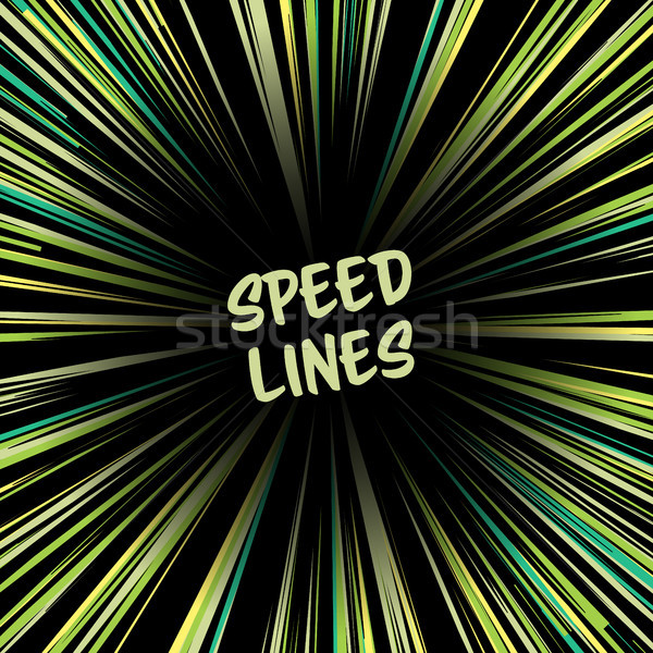 Manga Speed Lines Vector. Comic Radial Speed Lines. Ray And Acceleration. Otherworldly Visionary Ill Stock photo © pikepicture