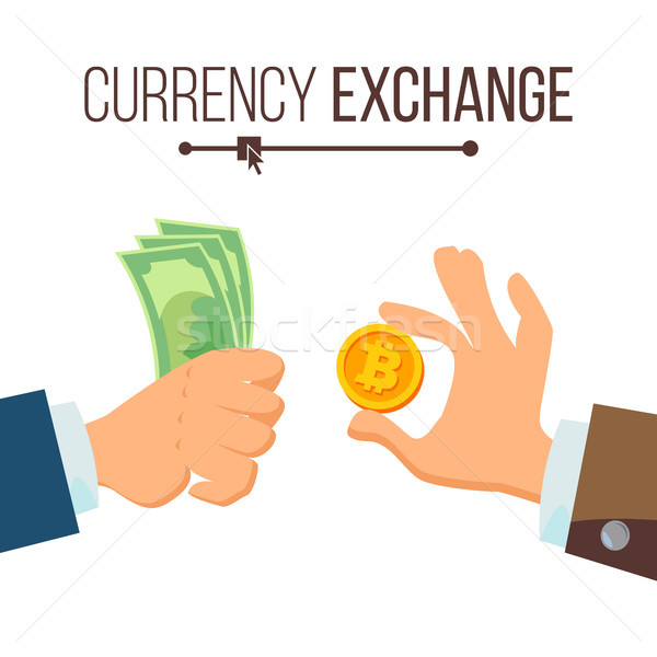 Photo stock: Argent · monnaie · échange · vecteur · dollar · bitcoin