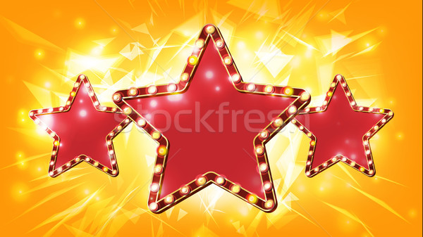 Star teken vector element retro Stockfoto © pikepicture