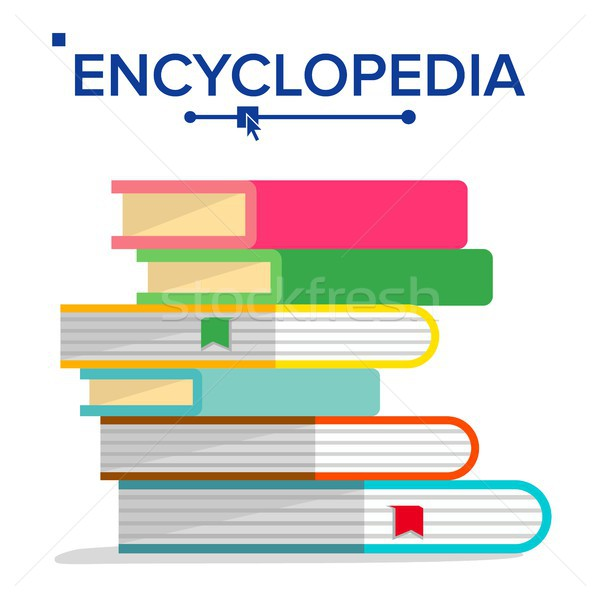 Encyclopedia Pile Vector. Books Stack With Bookmarks. Science, Learning Concept. Dictionary, Literat Stock photo © pikepicture
