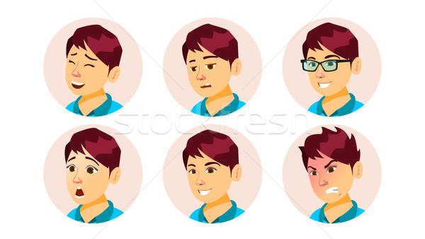 üzlet avatar nő vektor felhasználó portré Stock fotó © pikepicture