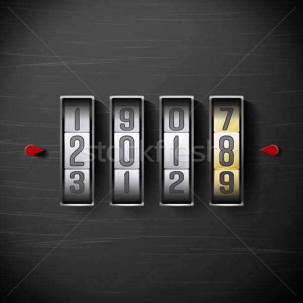 Gelukkig nieuwjaar vector klok counter illustratie Stockfoto © pikepicture