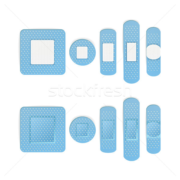 Medical Patch Vector. Bandage In Different Shape. Two Sides. Stock photo © pikepicture