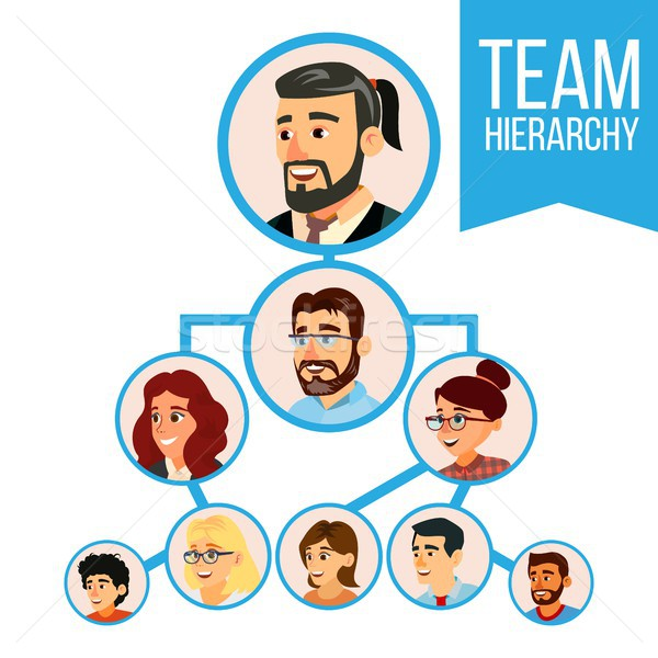 Project Team Organization Chart Vector. Employee Group Organization. Business people Teamwork. Illus Stock photo © pikepicture