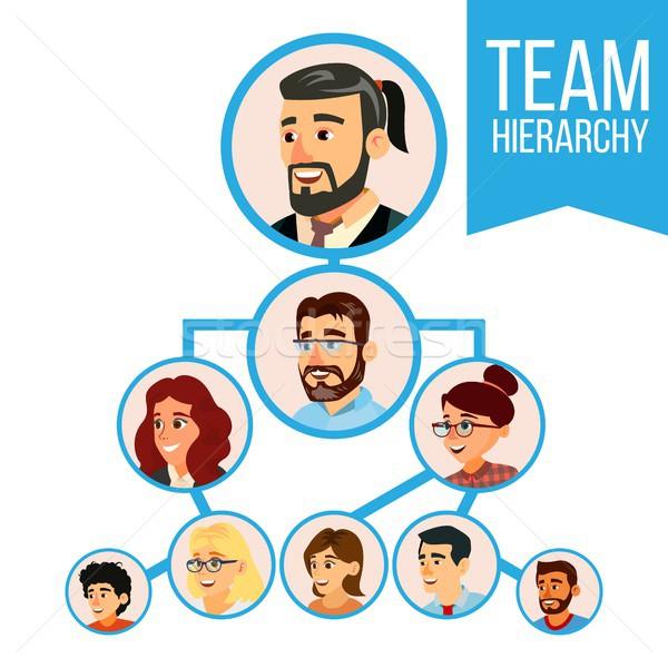 Stock photo: Project Team Organization Chart Vector. Employee Group Organization. Business people Teamwork. Illus