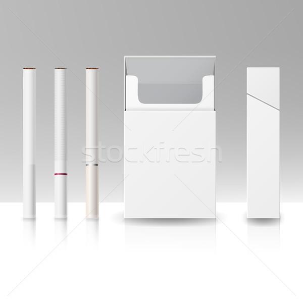 Pack pacchetto finestra sigarette 3D vettore Foto d'archivio © pikepicture