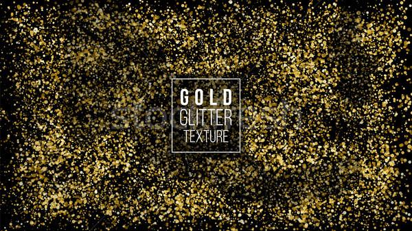Arany por robbanás csillámlás konfetti nagyszerű Stock fotó © pikepicture
