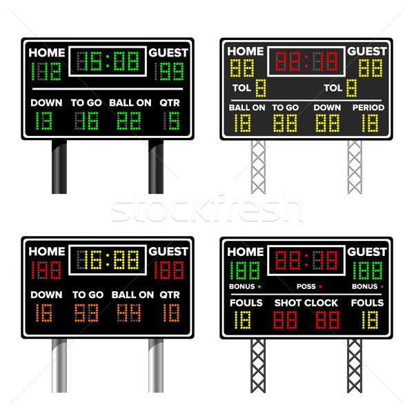 Amerikaanse scorebord tijd gast home basketbal Stockfoto © pikepicture