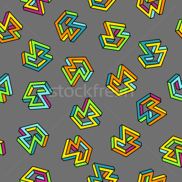Vector Pattern 80s. Seamless Background. Retro Memphis Style. Stock photo © pikepicture