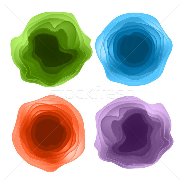 Modern Design Element Vector. Abstract Cut Paper Shapes Design. Isolated Ilustration. Stock photo © pikepicture