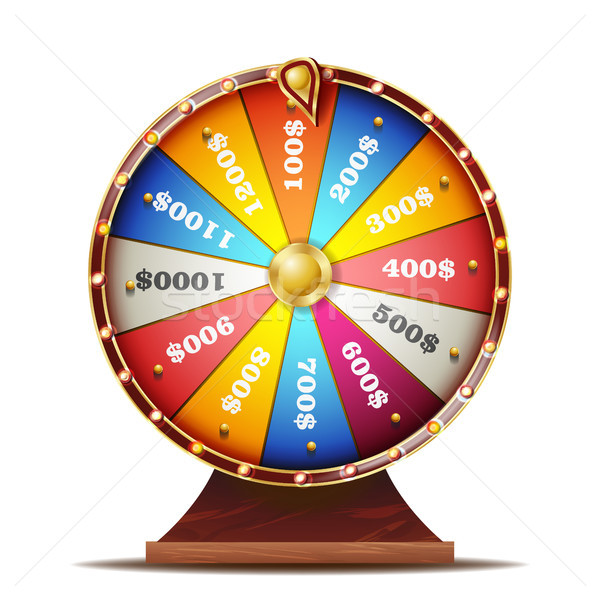 Fortune Wheel Vector. Realistic 3d Object. Casino Game Of Chance. Isolated Illustration Stock photo © pikepicture