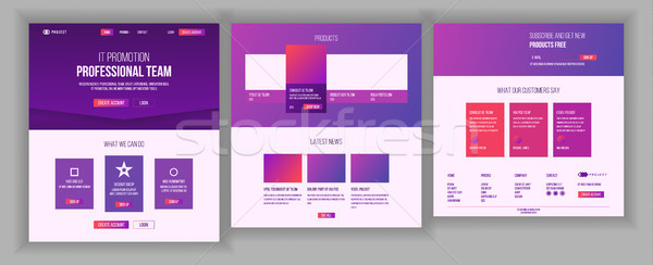 Website Template Vector. Page Business Landing. Web Page. Responsive Design Interface. Brainstorming Stock photo © pikepicture