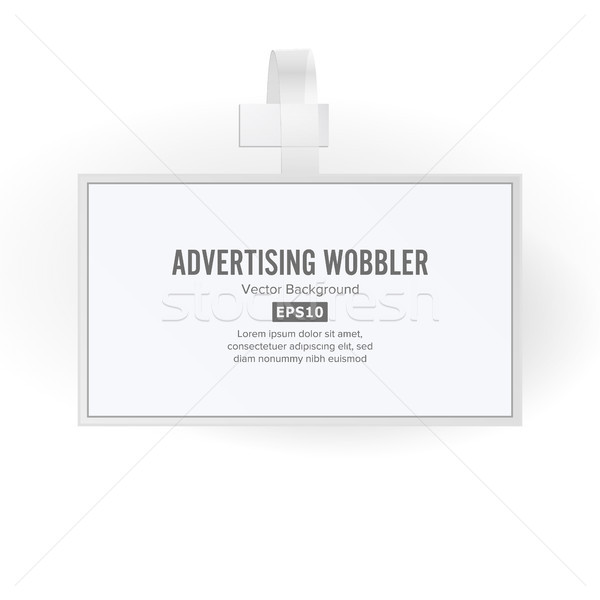 Plastic Advertising Wobbler Vector. Papper Price Tag Template Stock photo © pikepicture