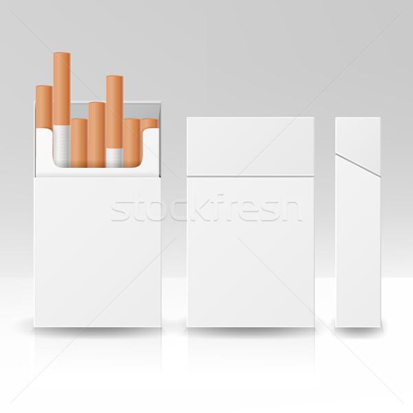Pack пакет окна сигареты 3D вектора Сток-фото © pikepicture