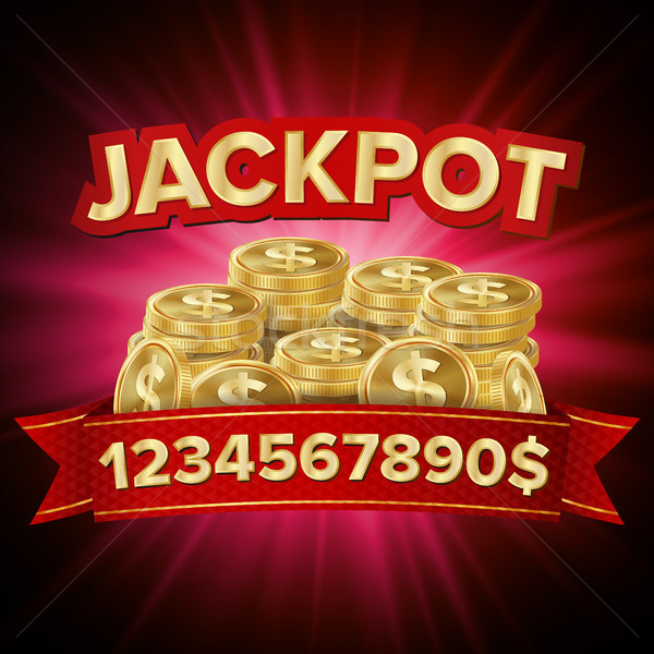 Jackpot Vector. Casino Background For Luck, Money, Jackpot, Play, Lottery Illustration Stock photo © pikepicture