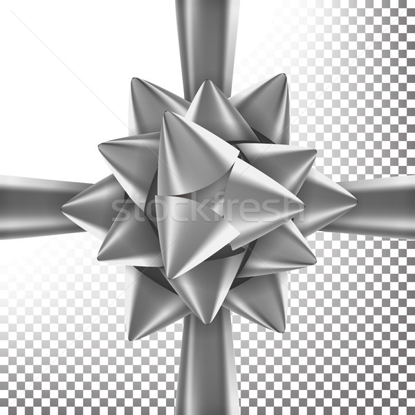 Present Bow Ribbon Vector. Decoration For Birthday Gift, Anniversary, Party Design. Transparent Back Stock photo © pikepicture