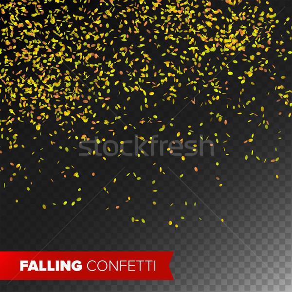 Confetti vallen vector heldere explosie geïsoleerd Stockfoto © pikepicture