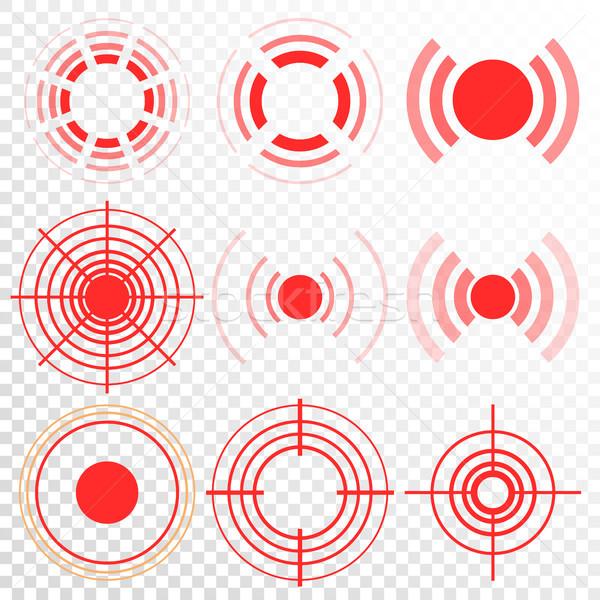 Dor vetor círculo dor angústia Foto stock © pikepicture