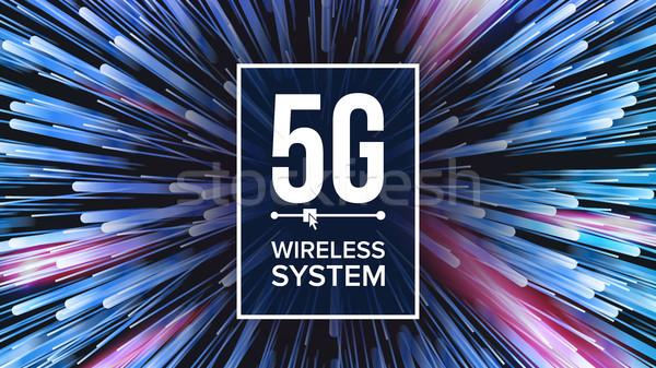 Wifi standard wektora pięć pokolenie sygnał Zdjęcia stock © pikepicture