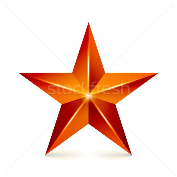 Realização vetor estrela vermelho assinar decoração Foto stock © pikepicture