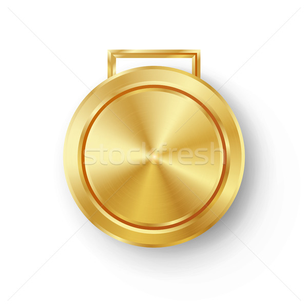 Stockfoto: Concurrentie · games · gouden · medaille · sjabloon · vector