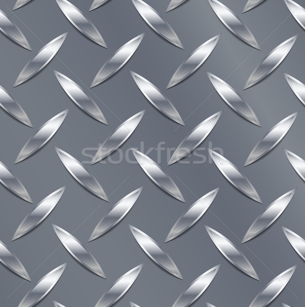 Corrugated Seamless Background. Good For Web Design. Realistic Corrugated Steel Plate Illustration.  Stock photo © pikepicture