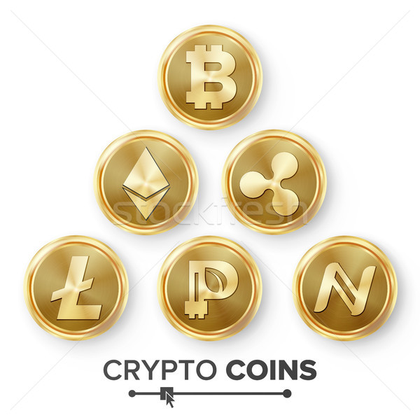Digital Currency Counter Icon Set Vector Stock photo © pikepicture