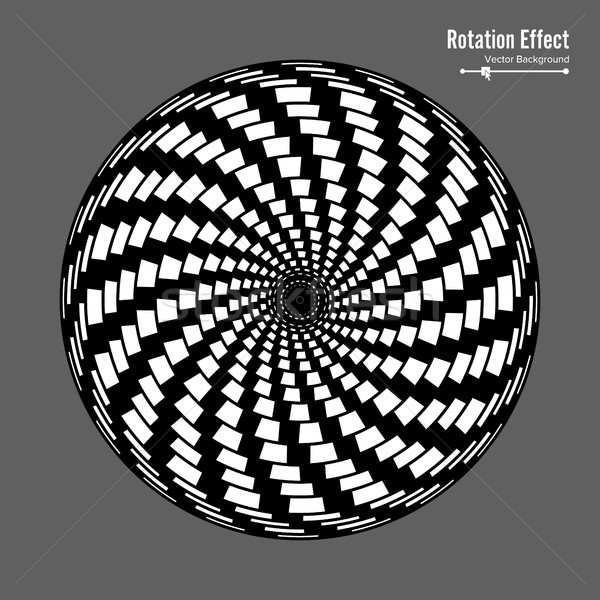 Optical Illusion. Vector 3d Art. Rotation Dynamic Effect. Spin Cycle. Swirl Pool Rings. Geometric Ma Stock photo © pikepicture