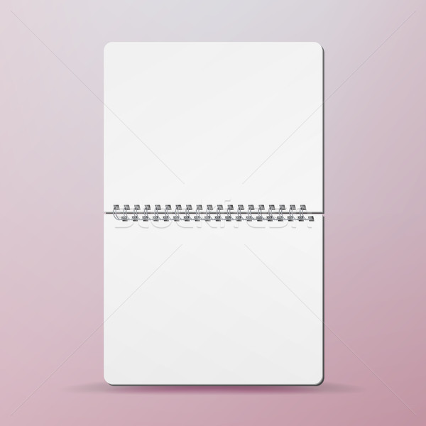 Spiral Empty Notepad Blank Mockup. Template For Advertising Branding, Corporate Identity. Opened Alb Stock photo © pikepicture